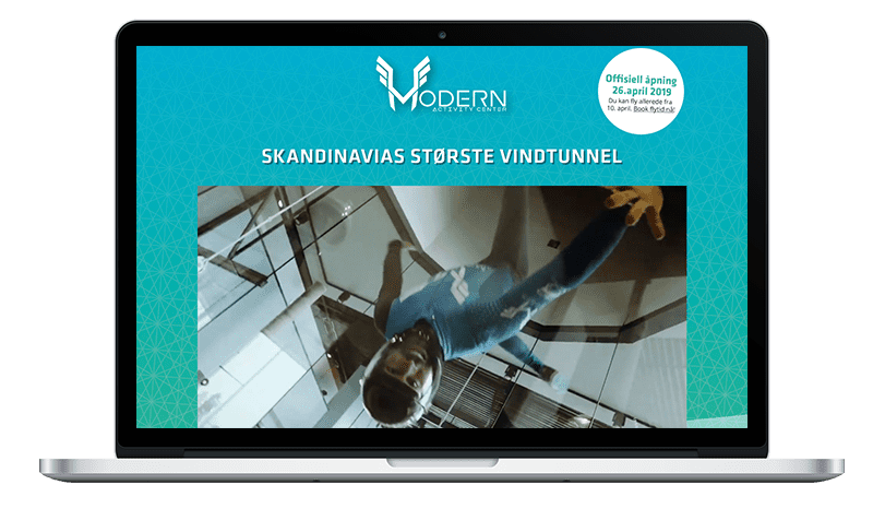 Modern Activity Center: Skandinavias største vindtunnel