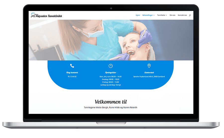 Møysalen Tannklinikk har fått nye nettsider