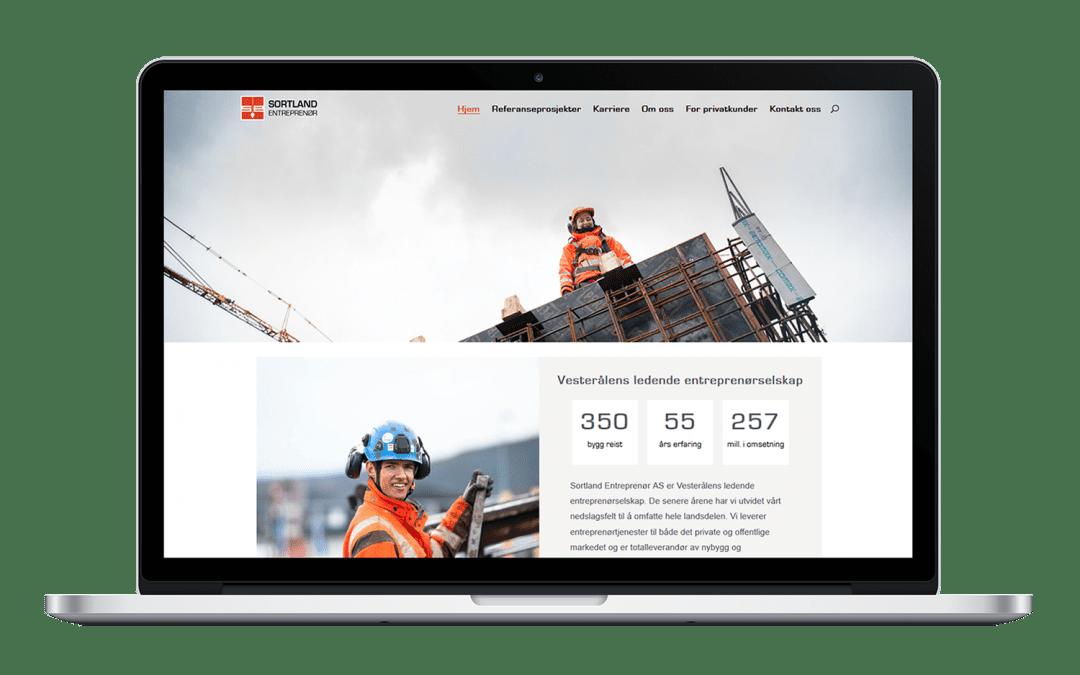 Sortland Entreprenør har fått ny nettside