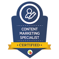 Certified Content Marketing Specialist skilt