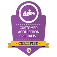 Certified Customer Acquisition Specialist skilt
