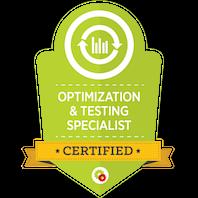 Certified Optimization & Testing Specialist skilt