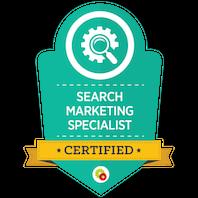 Certified Search Marketing Specialist skilt