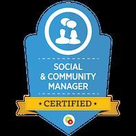 Certified Social & Community Specialist skilt